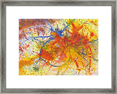 Summer Branches Alfame With Flower Acrylic/water Framed Print