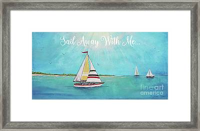 Framed Print featuring the painting Summer Breeze-c by Jean Plout