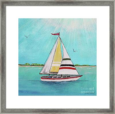 Framed Print featuring the painting Summer Breeze-d by Jean Plout
