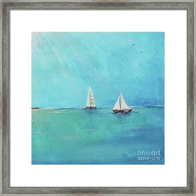 Framed Print featuring the painting Summer Breeze-e by Jean Plout