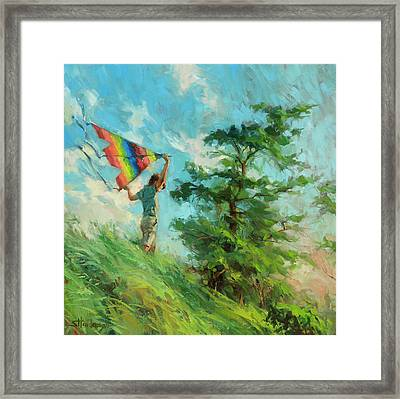 Framed Print featuring the painting Summer Breeze by Steve Henderson