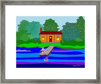 Summer Cabin Framed Print