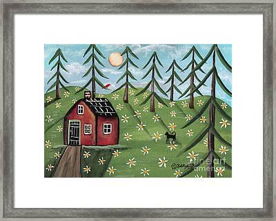Summer Cabin Framed Print by Karla Gerard