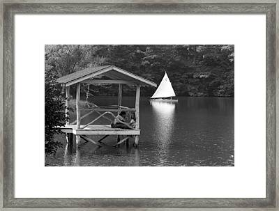 Summer Camp Black And White 1 Framed Print