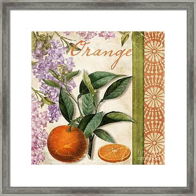 Summer Citrus Orange Framed Print
