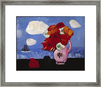 Summer Clouds And Flowers Framed Print by MotionAge Designs