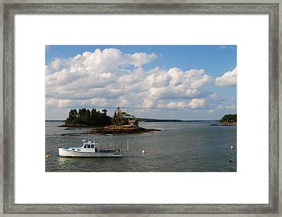 Summer Clouds Downeast Framed Print by Steven Scott