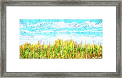 Summer Clouds Streaming Framed Print