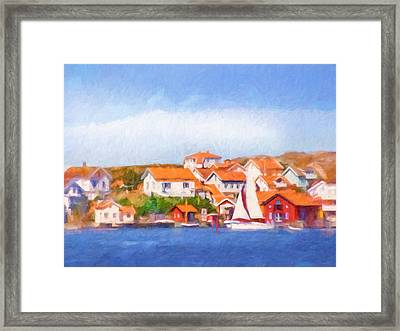 Summer Coast Framed Print by Lutz Baar
