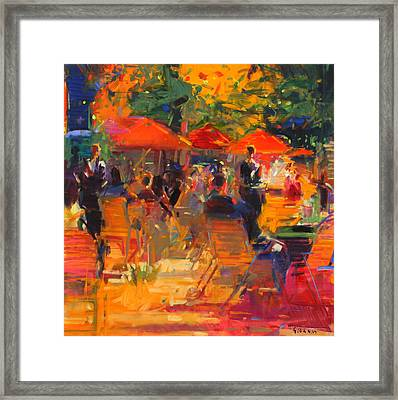 Summer Cocktails  Framed Print by Peter Graham