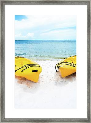 Summer Colors On The Beach Framed Print by Shelby Young