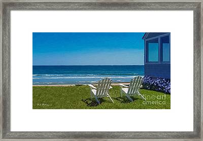 Summer Comes To Higgins Beach Framed Print by M S McKenzie