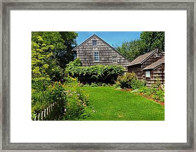 Summer Cottage Framed Print