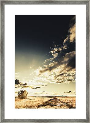 Summer Country Backroad Framed Print