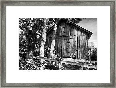 Summer Country Barn Bw Framed Print