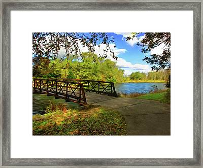 Summer Crossing Framed Print