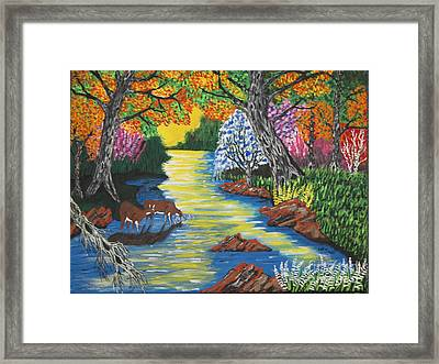 Summer Crossing Framed Print by Jeffrey Koss