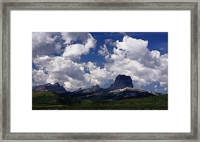 Summer Day At Chief Mountain Framed Print
