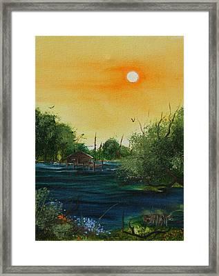 Summer Day At The Lake Framed Print