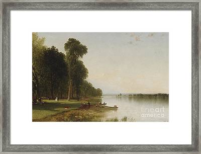 Summer Day On Conesus Lake, 1870 Framed Print