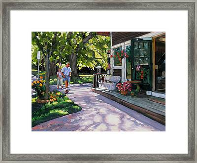 Summer Day On The Cape Framed Print by Laura Lee Zanghetti