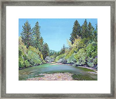Summer Day On The Gualala River Framed Print by Asha Carolyn Young