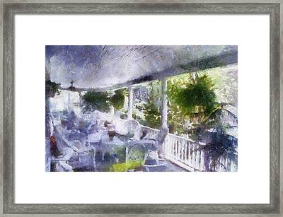 Summer Day On The Victorian Veranda Pa 02 Framed Print