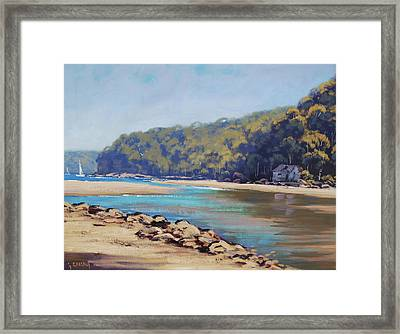 Summer Day Patonga Nsw Australia Framed Print