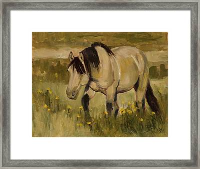 Framed Print featuring the painting Summer Days by Billie Colson