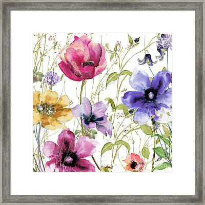 Summer Diary I Framed Print by Mindy Sommers
