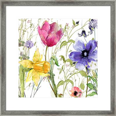 Summer Diary Framed Print by Mindy Sommers
