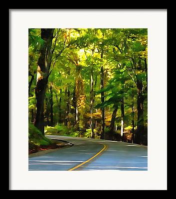 Turning Leaves Mixed Media Framed Prints