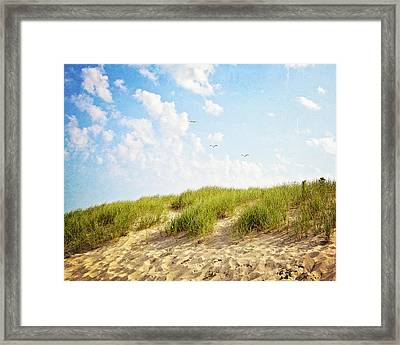 Framed Print featuring the photograph Summer Dunes by Melanie Alexandra Price