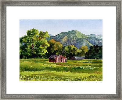 Framed Print featuring the painting Summer Evening by Anne Gifford