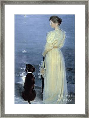 Summer Evening At Skagen Framed Print