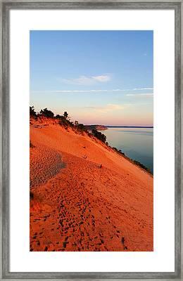 Summer Evening At Sleeping Bear Dunes Framed Print
