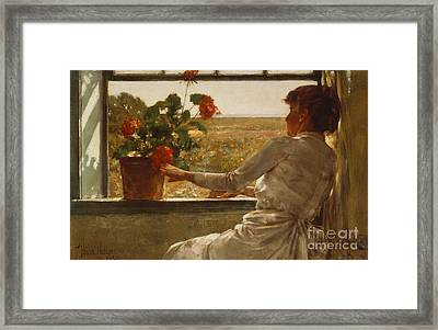 Summer Evening Framed Print by Childe Hassam