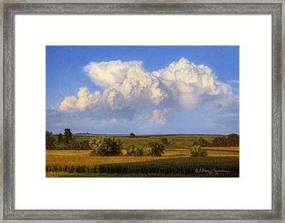 Summer Evening Formations Framed Print