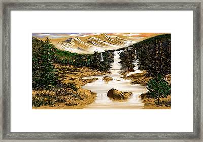 Summer Evening Glow Framed Print by Anthony Fishburne