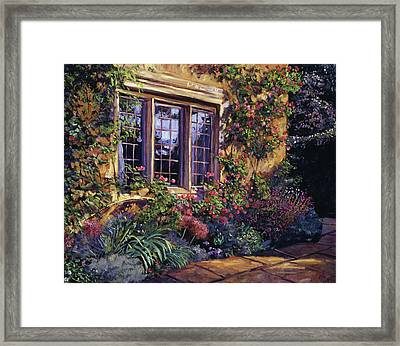 Summer Evening Glow Framed Print by David Lloyd Glover
