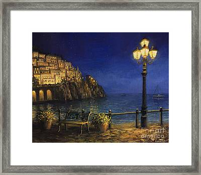 Summer Evening In Amalfi Framed Print by Kiril Stanchev