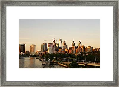 Summer Evening In Philadelphia Framed Print by Ed Sweeney
