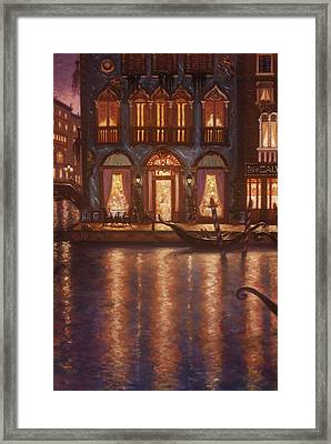 Summer Evening In Venice Framed Print by Scott Jones