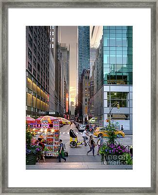 Summer Evening, New York City  -17705-17711 Framed Print