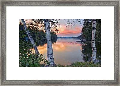 Summer Evening On Highland Lake Framed Print by Darylann Leonard Photography