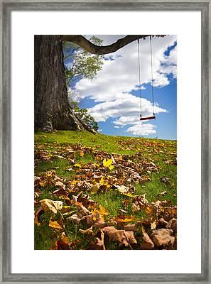 Summer Fades Away Framed Print by Benjamin Williamson