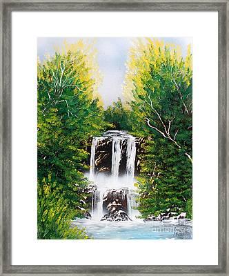 Summer Falls Framed Print by Greg Moores