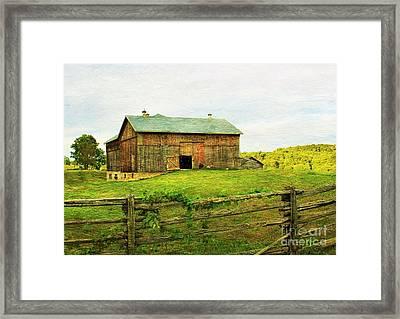 Summer Farm Moment Framed Print
