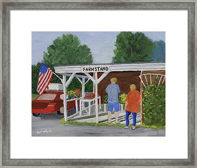 Summer Farm Stand Framed Print