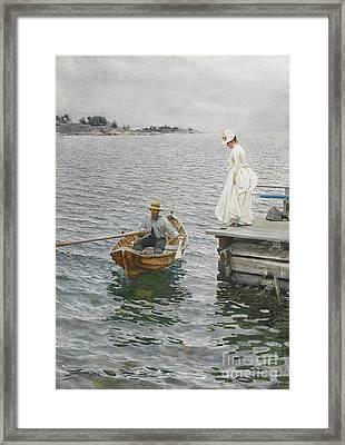 Summer Ferry 1886 Framed Print by Padre Art